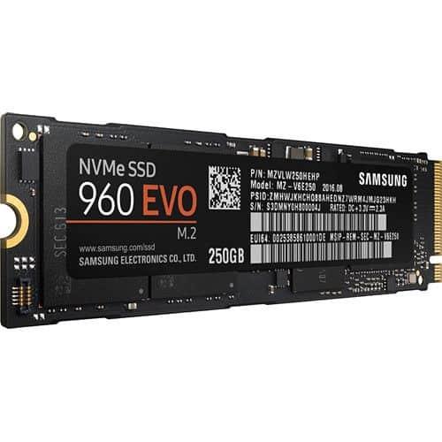 SSD NVMe SAMSUNG EVO M.2 250GB C