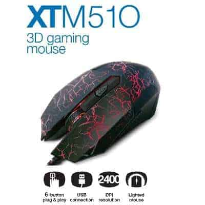 MOUSE GAMER XTECH XTM510 NEGRO LED A