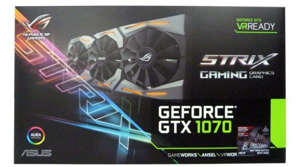 Tarjeta de Video ASUS Strix GTX1070 8GB OC B
