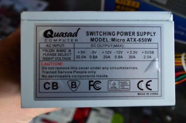 Fuente De Poder Micro Atx Quasad 650W C