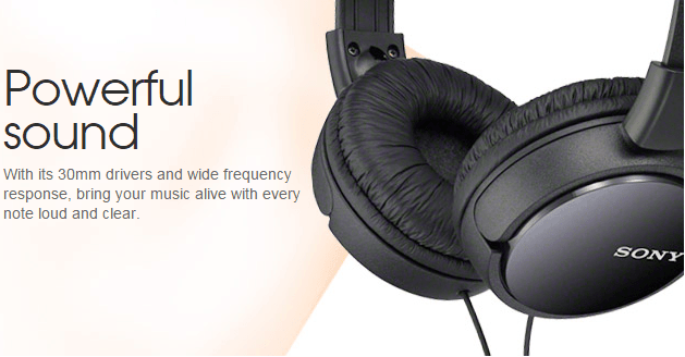 AUDIFONOS SONY ESTEREO MDR ZX110 C