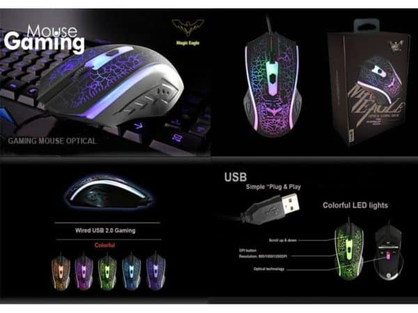 MOUSE GAMER HAVIT HV-MS736 LED 1200DPI F