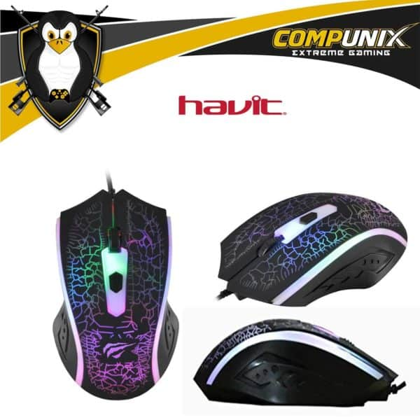 MOUSE GAMER HAVIT HV-MS736 LED 1200DPI