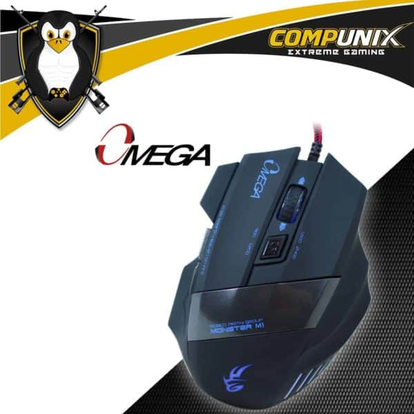 MOUSE GAMER OMEGA 6D NEGRO AZUL LED