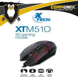 MOUSE GAMER XTECH XTM510 NEGRO LED