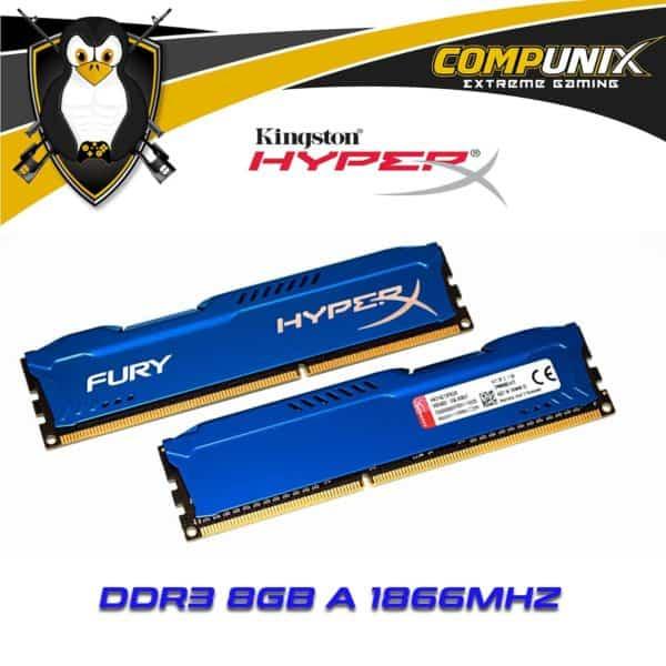 Memoria RAM DDR3 HyperX 8GB 1866Mhz A