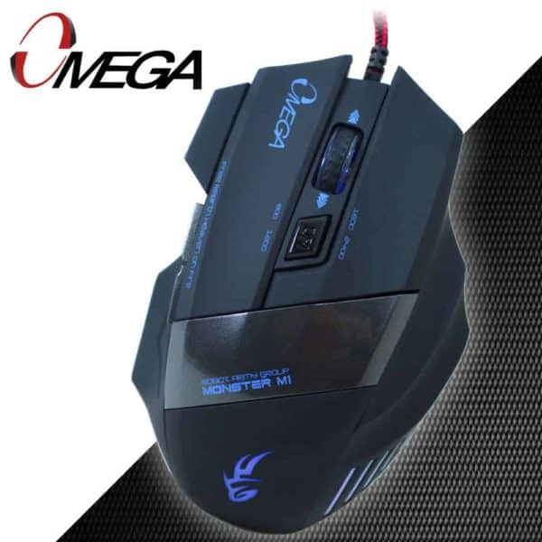 MOUSE GAMER OMEGA 6D NEGRO AZUL LED B