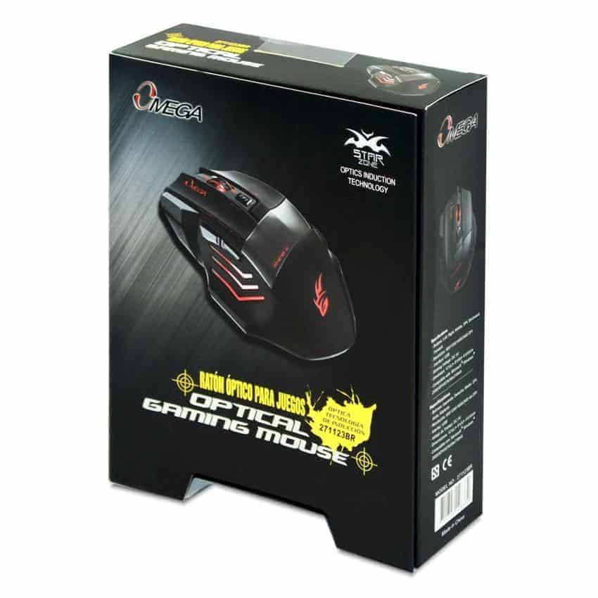 MOUSE GAMER OMEGA 6D NEGRO AZUL LED A