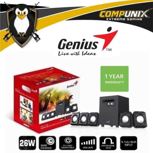 PARLANTES GENIUS SW 5.1 1020 26 W PC