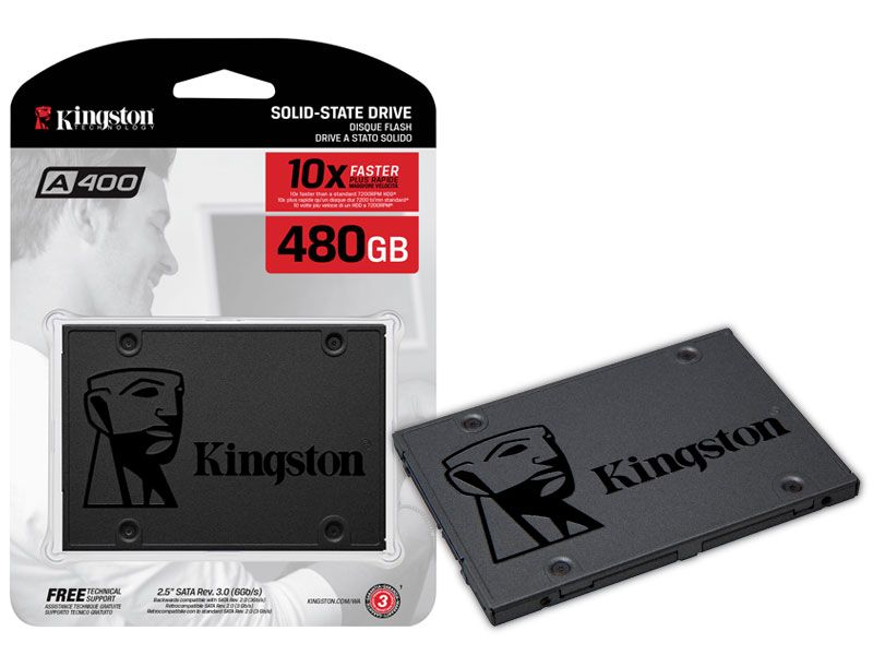 DISCO SÓLIDO SSD KINGSTON A400 480GB SATA III A