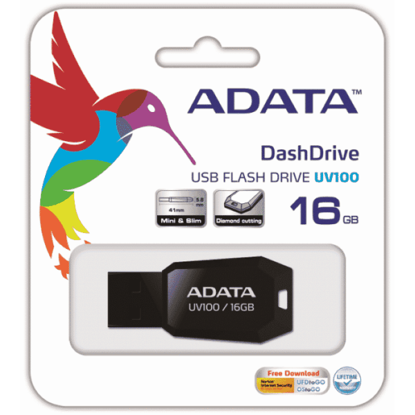 PENDRIVE ADATA UV100 16GB USB B