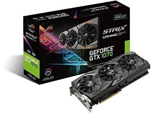 Tarjeta de Video ASUS Strix GTX1070 8GB OC A