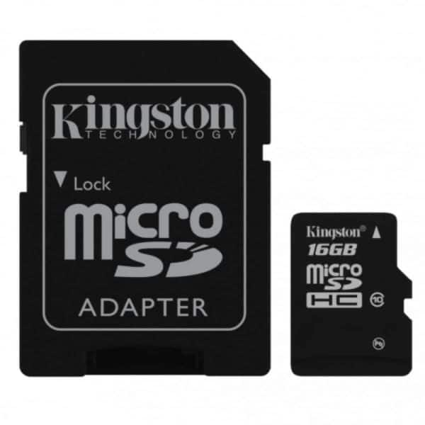 Memoria Micro SD Kingston 16GB C10 E