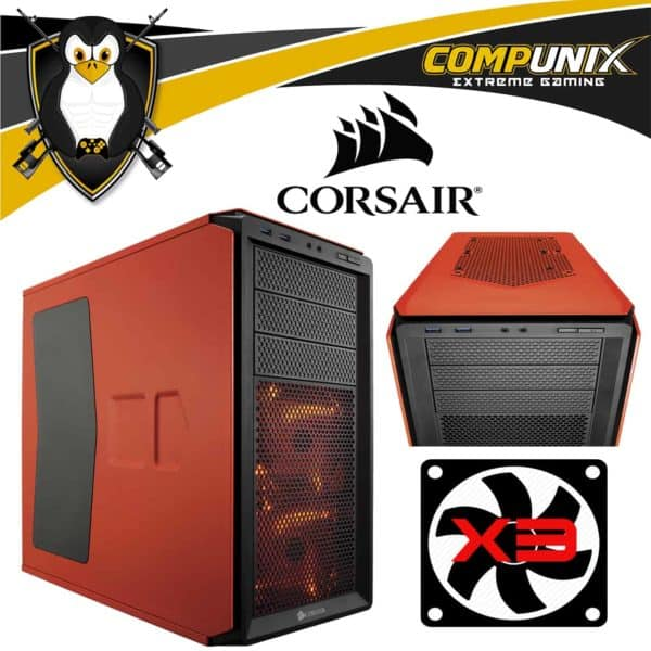CASE CORSAIR GRAPHITE 230T ORANGE LED RED