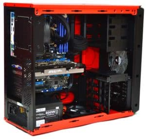 CASE CORSAIR GRAPHITE 230T ORANGE LED RED D