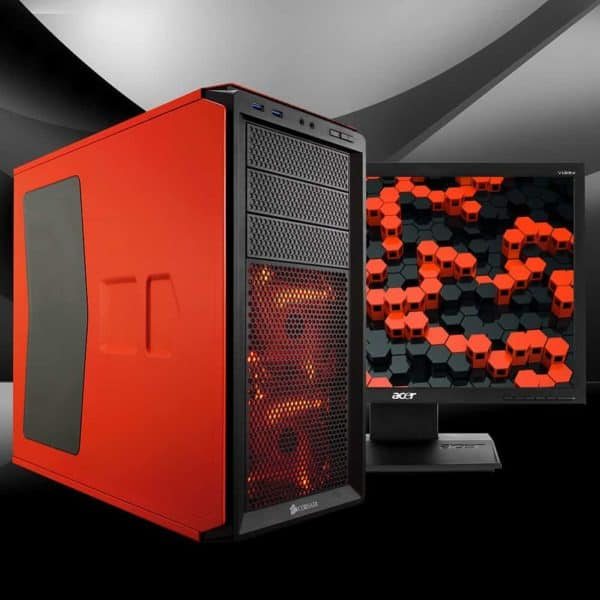 CASE CORSAIR GRAPHITE 230T ORANGE LED RED H