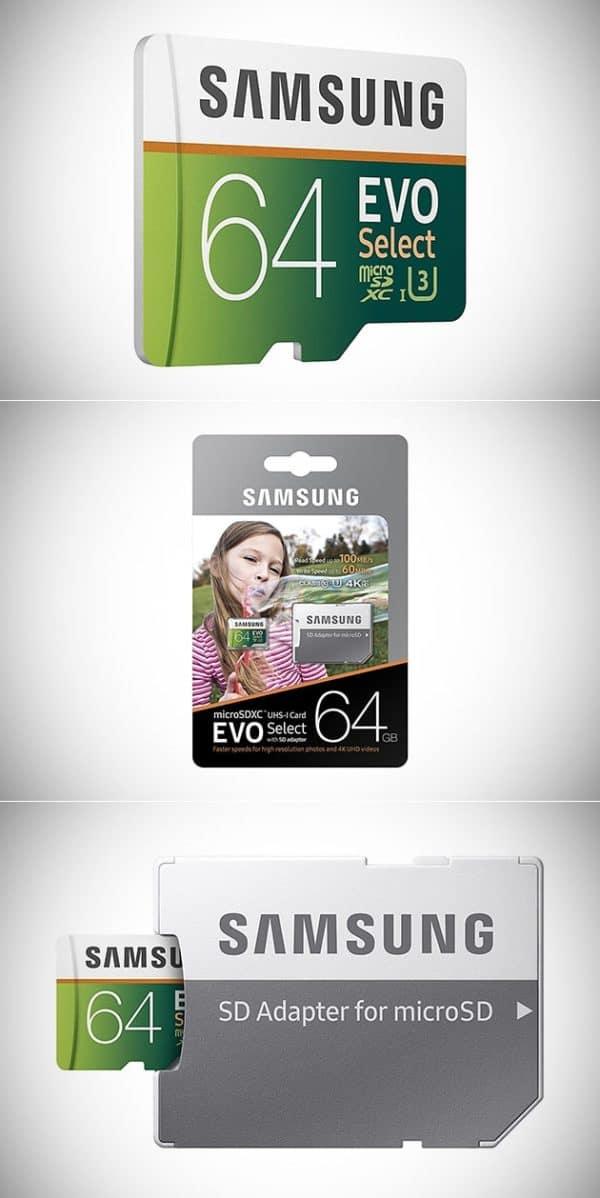 MEMORIA SAMSUNG EVO MICRO SDXC 64GB UHS 1 CLASS 10 U3 D