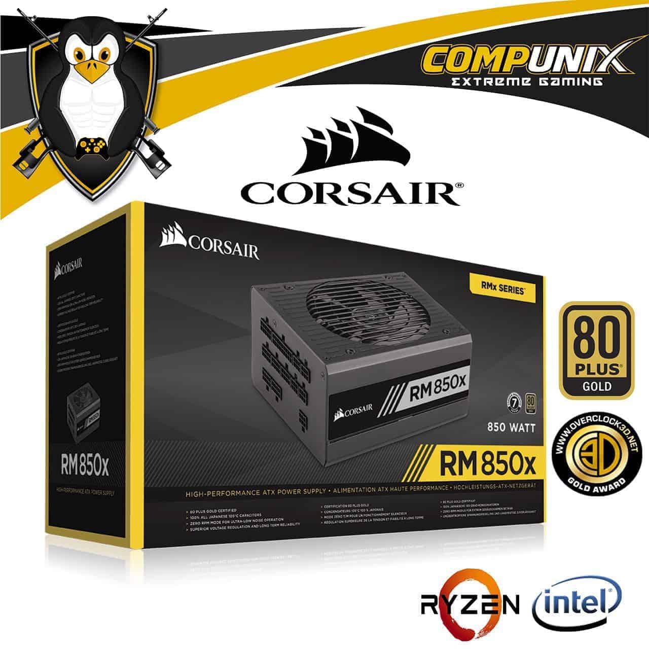 FUENTE DE PODER CORSAIR RM850X 850W 80+ GOLD