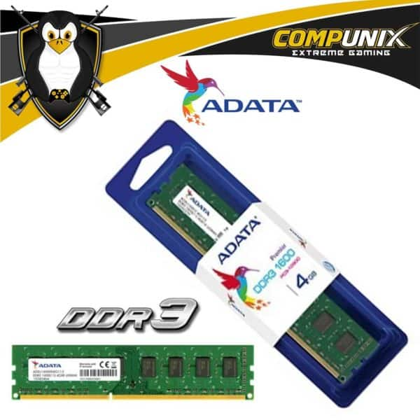 MEMORIA RAM ADATA DDR3 4GB 1600MHZ