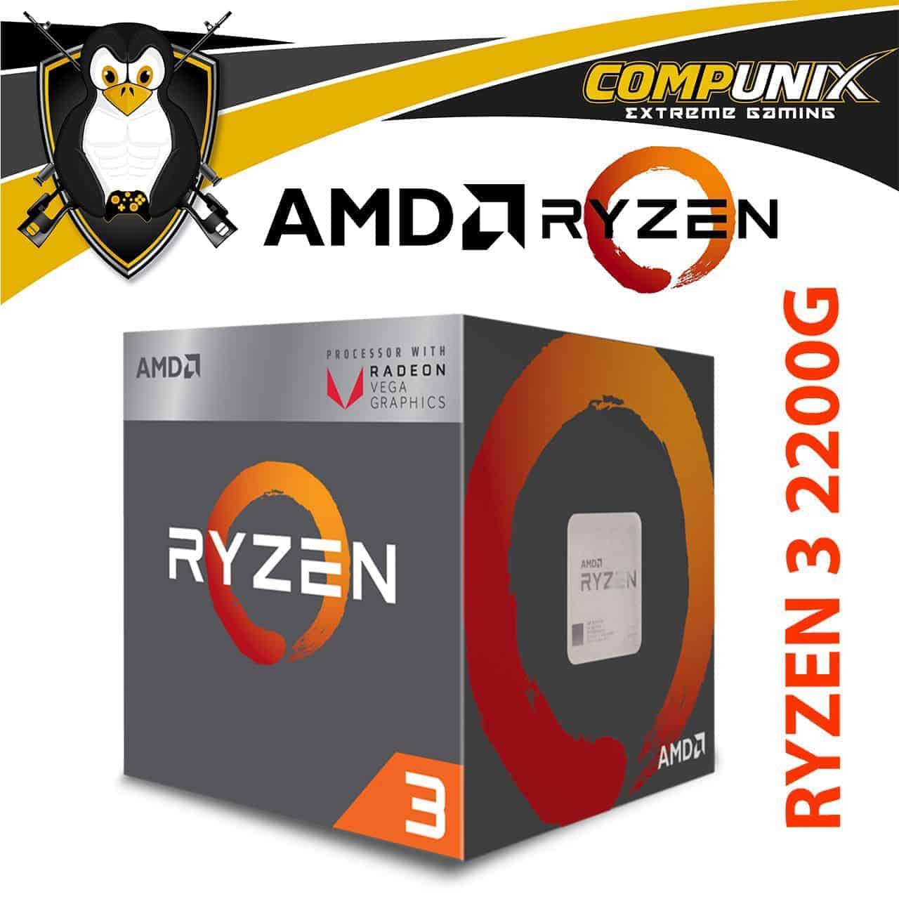 PROCESADOR APU AMD RYZEN 3 2200G 3.5GHZ