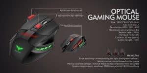 MOUSE GAMER HAVIT HV-MS746 7 TECLAS LED 1600DPI E