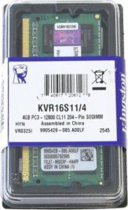 MEMORIA RAM KINGSTON LAPTOP 4GB DDR3 1600mhz A