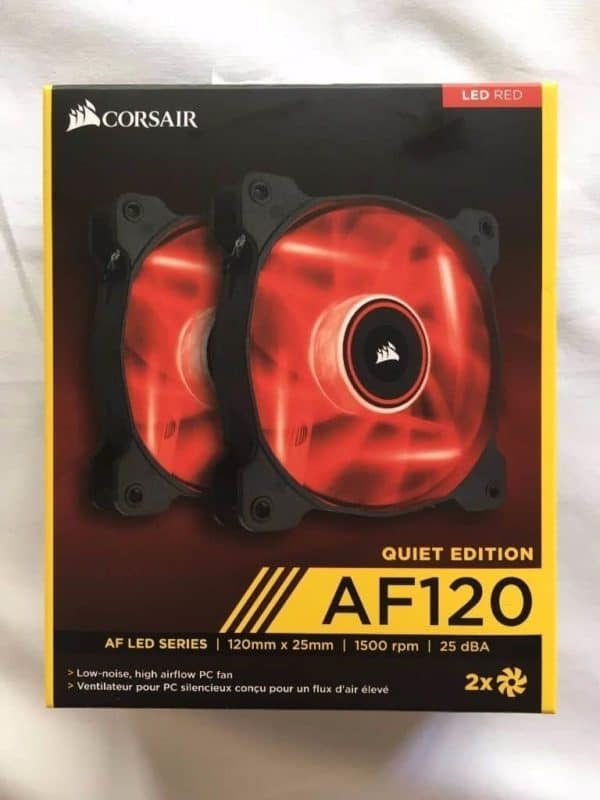 COOLER CORSAIR AF120 PACK LED RED A