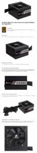 FUENTE DE PODER CORSAIR CX650 650W 80+ BRONZE E