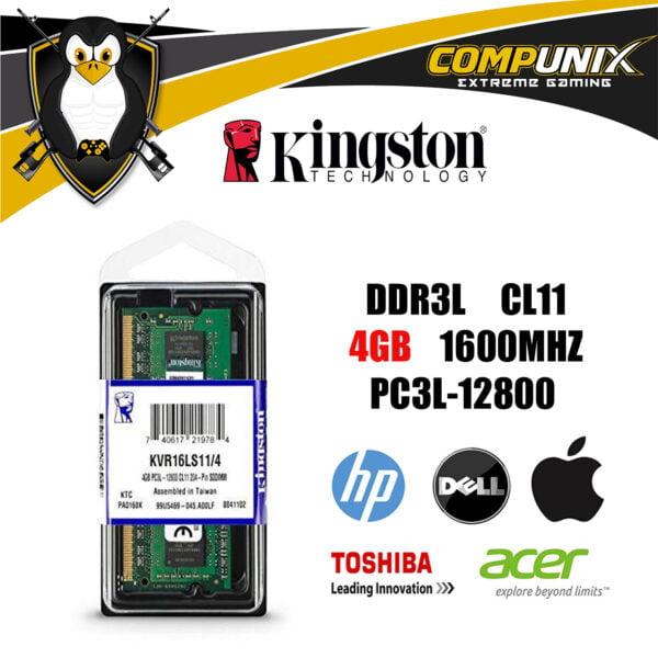 MEMORIA RAM KINGSTON LAPTOP 4GB DDR3L 1600mhz