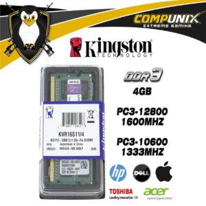 MEMORIA RAM KINGSTON LAPTOP 4GB DDR3 1600mhz