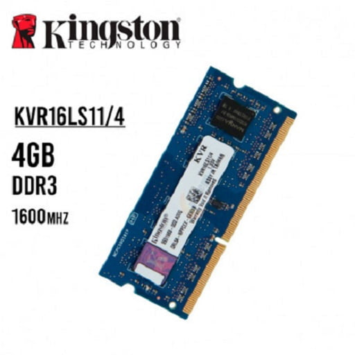 MEMORIA RAM KINGSTON LAPTOP 4GB DDR3L 1600mhz C