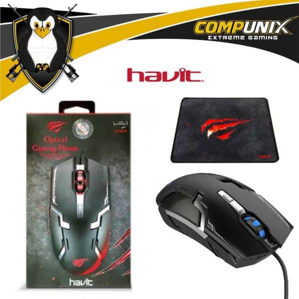 MOUSE GAMER HAVIT HV-MS749 6 TECLAS LED 3200DPI