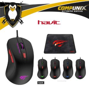 MOUSE GAMER HAVIT HV-MS798 6 TECLAS LED 2800DPI
