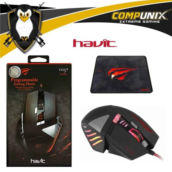 MOUSE GAMER HAVIT HV-MS798 8 TECLAS LED 4000DPI