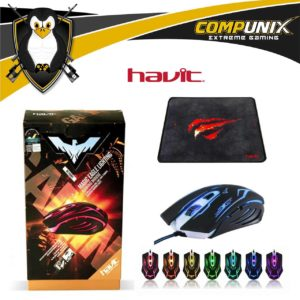 MOUSE GAMER HAVIT HV-MS801 6 TECLAS LED 2400DPI