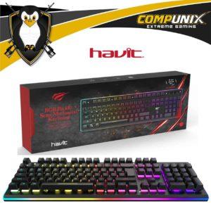 TECLADO GAMER HAVIT HV-KB391L SEMIMECANICO RGB
