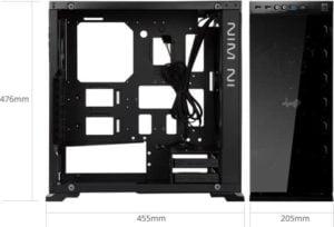 CASE GAMER INWIN 805 TEMPERED GLASS BLACK F