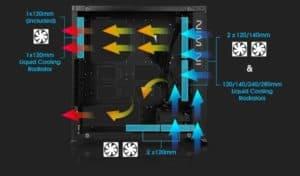 CASE GAMER INWIN 805 TEMPERED GLASS BLACK G