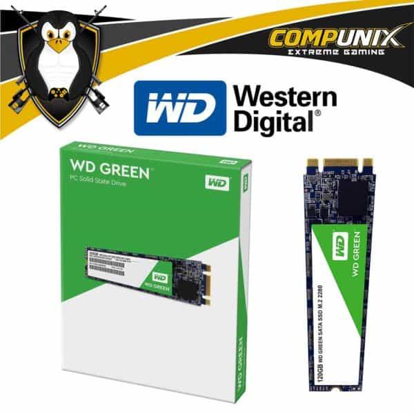 UNIDAD SSD M.2 2280 WD GREEN 120GB