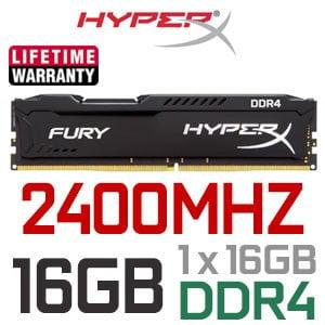 MEMORIA RAM HYPERX DDR4 16GB 2400MHZ D