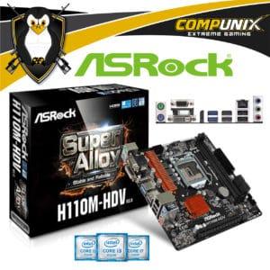 MOTHERBOARD ASROCK H110M-HDV R3.0 LGA1151 DDR4