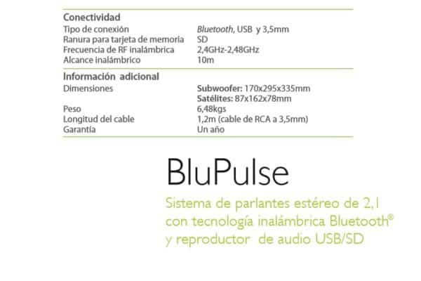 PARLANTES KLIP XTREME KWS-650 BLU PULSE BLUETOOTH D