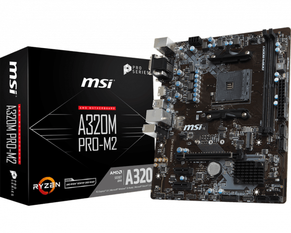MOTHERBOARD MSI A320M PRO M.2 AM4 A