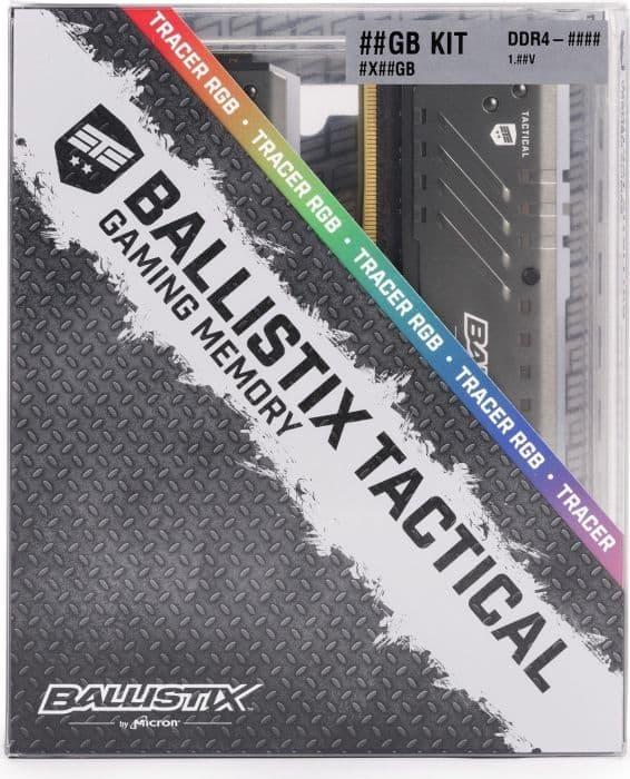 MEMORIA RAM CRUCIAL BALLISTIX TACTICAL DDR4 8GB 3000MHZ RGB A
