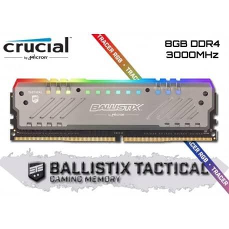 MEMORIA RAM CRUCIAL BALLISTIX TACTICAL DDR4 8GB 3000MHZ RGB B