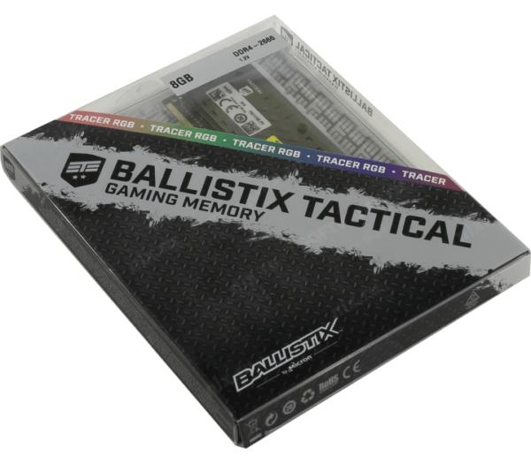 MEMORIA RAM CRUCIAL BALLISTIX TACTICAL DDR4 8GB 2666MHZ RGB C
