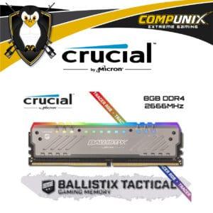 MEMORIA RAM CRUCIAL BALLISTIX TACTICAL DDR4 8GB 2666MHZ RGB