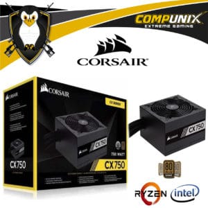FUENTE CORSAIR CX750 750W 80 PLUS BRONZE