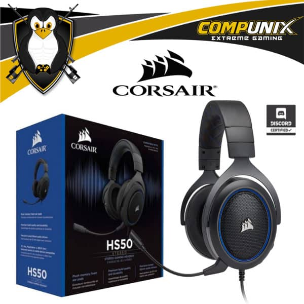 AUDIFONO GAMER CORSAIR HS50 ESTEREO