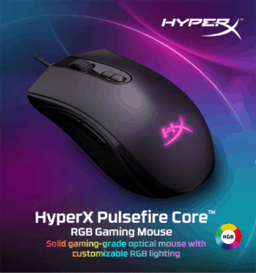 MOUSE GAMER HYPERX PULSEFIRE CORE E